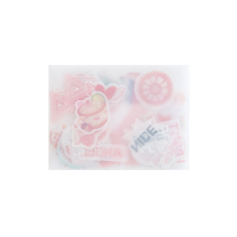 Купить с кэшбэком 100 pcs/bag Fantasy hot stamping series sticker decoration DIY ablum diary scrapbooking label sticker stationery