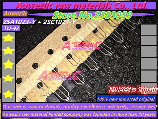 Aoweziic 100% yeni ithal orijinal 2SA1023 Y 2SC1027 Y KTA1023 Y KTC1027 Y A1023 C1027 TO 92 güç triode (1 çift)