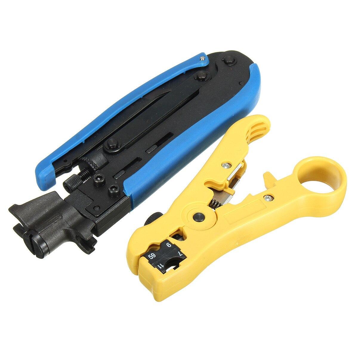 TOOGOO New Multi Compression Coaxial Cable Crimping Tool F Rg6 Rg58 Rg59 Connectors Coax Crimper Coaxial Cable Stripper