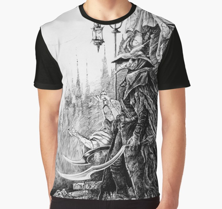 All Over Print 3D Tshirt Men Funny T Shirt  Eileen The Crow - Bloodborne Graphic T-Shirt