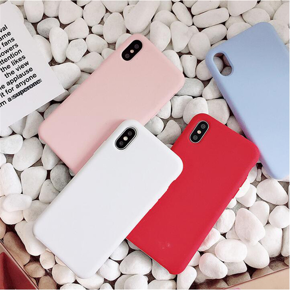 Original Silicone Case on iPhone 7 8 6 6S Plus X 5s 02