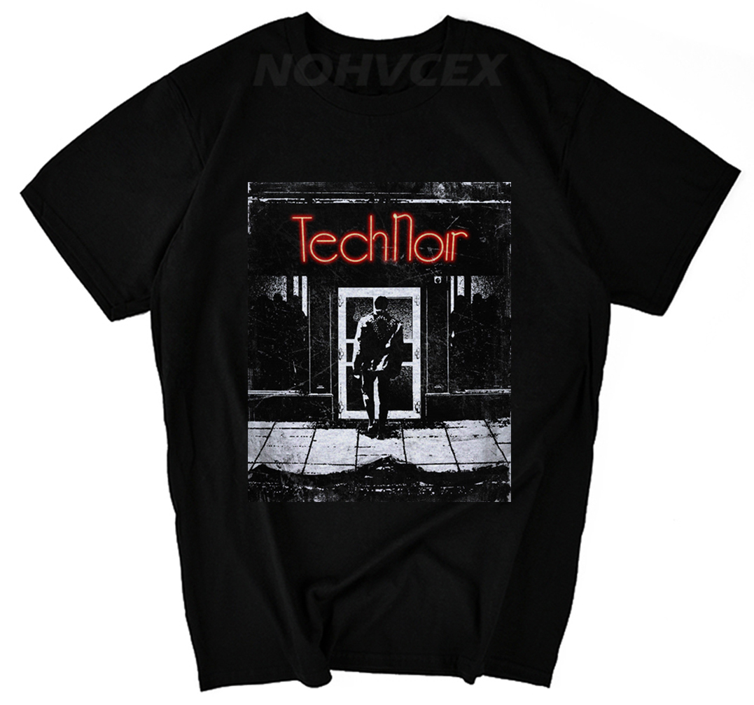 Tech Noir 80s Retro T-shirt Night Club Action Movie Film Robot Fashion Design 1984 Heather TERMINATOR Arnold Schwarzenegger image