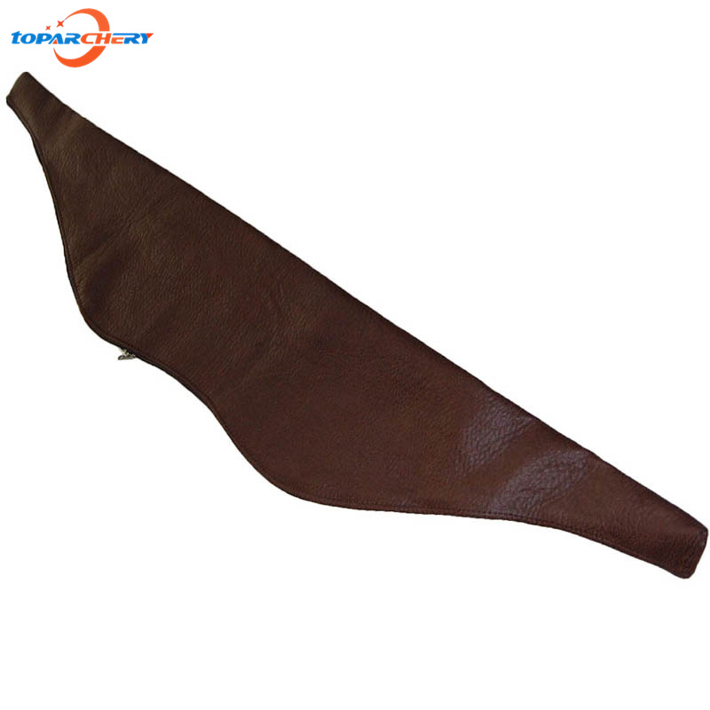 Leather Archery Hunting Arrow Quiver Length 120cm Portable Water Resistant Archery Bow Bag Holder Caza Arrows Bow Quiver Bag