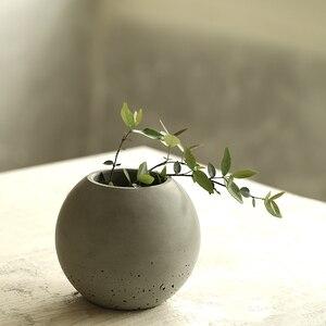 Image 2 - Silikon kalıp beton vazo çimento tencere ev dekorasyon topu şekli beton Pot kalıpları beton kalıp çimento 3d vazo silika jel