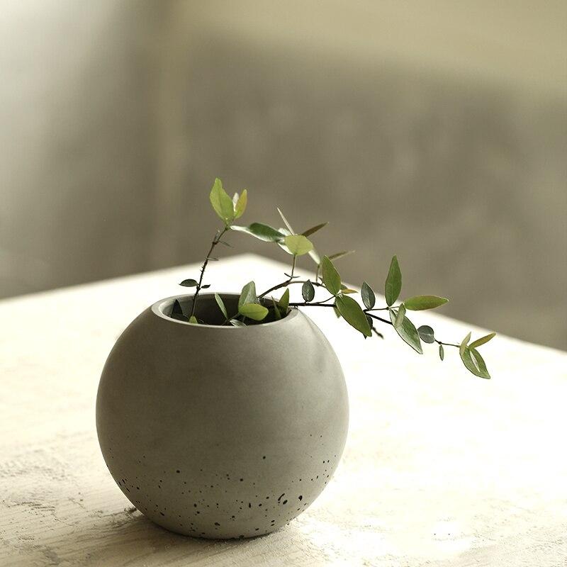 Żel krzemionkowy formy silikonowe betonowe wazon cementu garnki domu dekoracyjna piłka kształt do betonu formy forma betonowa cementu 3d wazon w Formy do ciast od Dom i ogród na  Grupa 2