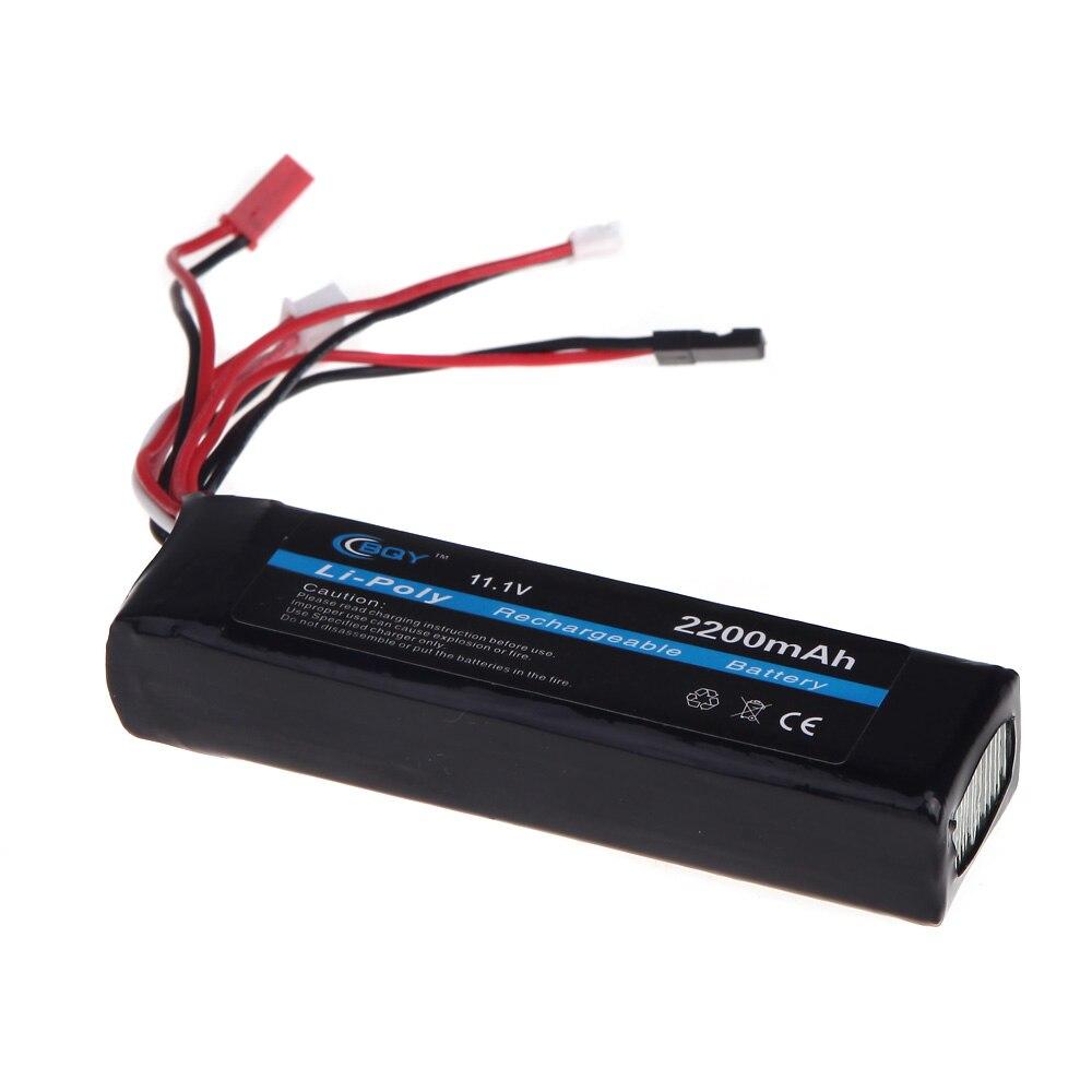Original BQY Transmitter 11.1V 2200mAh LiPo Battery 3S 3 connector for JR Futaba Walkera