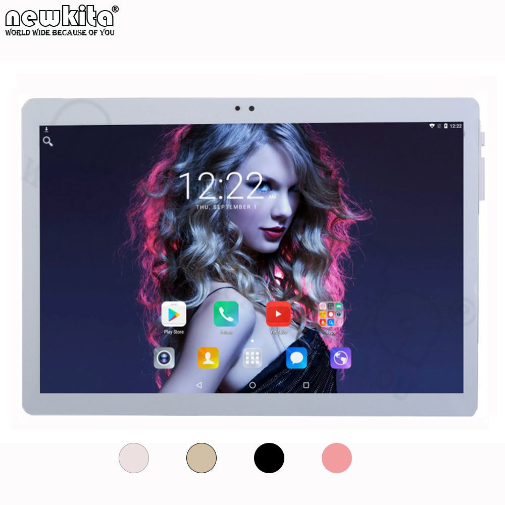 Tablet 10.1 inch 3G Quad Core Android 6.0 Dual SIM 2GB+16GB 1280*800 IPS WiFi GPS FM Bluetooth Phone Call Tablet PC Metal Case