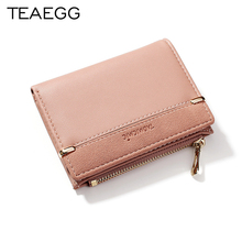 TEAEGG Wallet Women 2019 Lady Short Women Wallets Mini Money