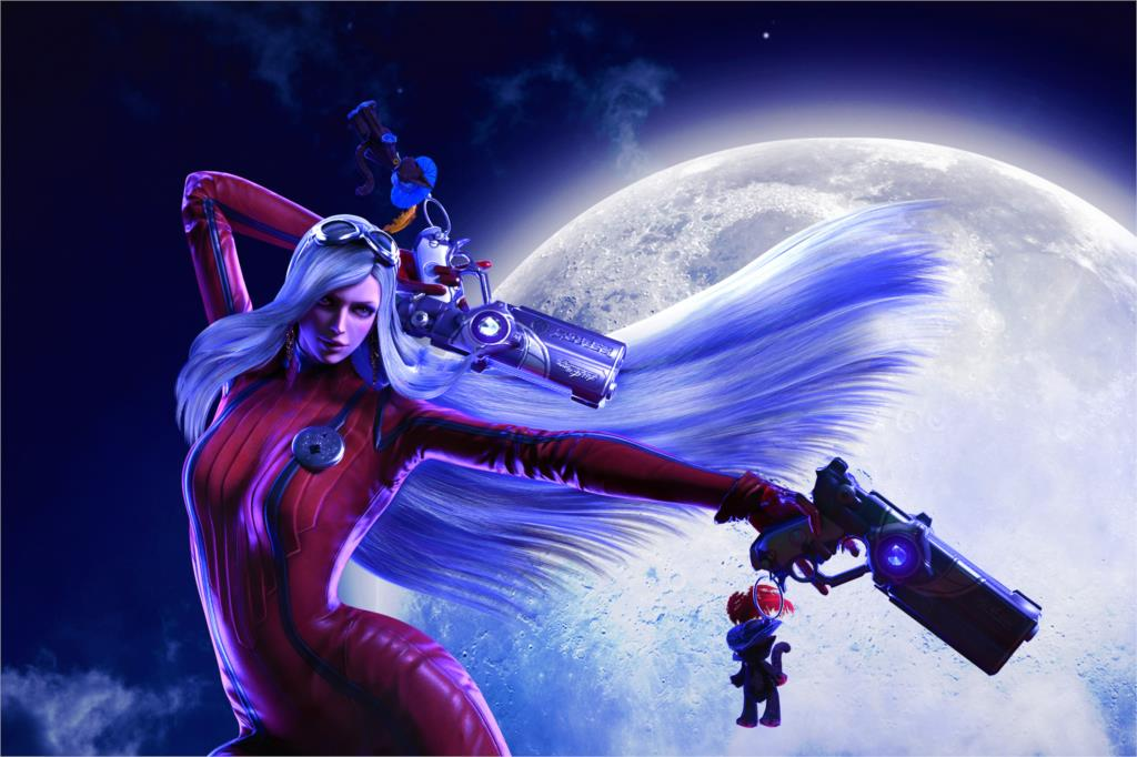 Home decoration Bayonetta the full moon girl witch guns night All 4 One Platinum Games Silk Fabric Poster Print MM100