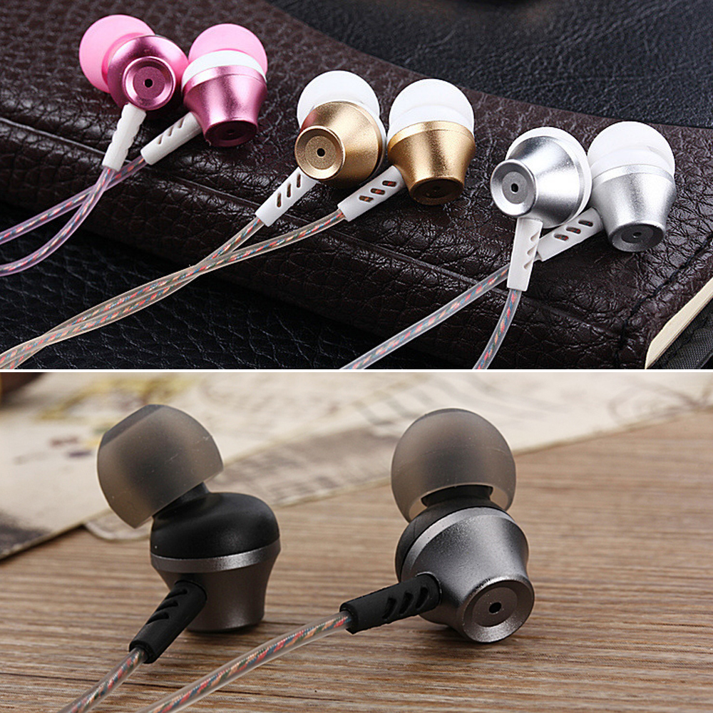 KST-x5 Colorful Earphone With Mic & Metal Earbuds 3D Stereo Handsfree Call For Android/IOS Smartphone iphone xiaomi PC 4 Colors kst x2 in ear stereo earphone with metal earbuds