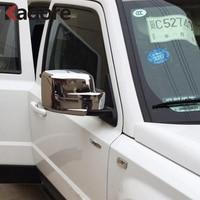 For Jeep Patriot 2007 2008 2009 2010 2011 2012 2013 2014 2015 2016 2017 Chrome Side Door Mirror Caps Cover Trim Car Accessories