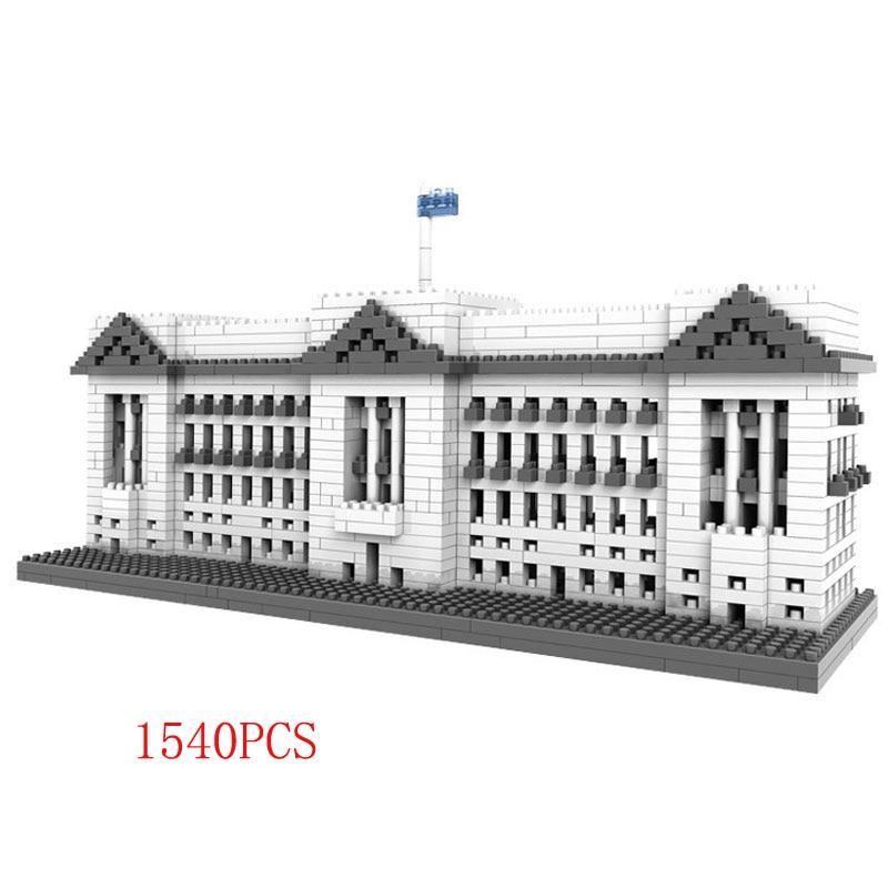 1540pcs Block World Famous Architecture Buckingham Palace London England United Kingdom Mini Block Model Educational Toy