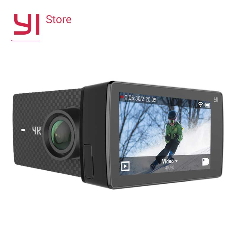 "YI 4K + (Plus) Handlekamera Vanntett Case International Edition FIRST 4K / 60fps Amba H2 SOC Cortex-A53 2,2 ""LDC RAM EIS WIFI"