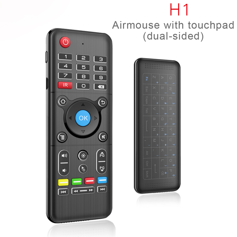 Air Mouse Universal TV Remote Control with Backlight Touchpad Mini Wireless Keyboard Controller for Android TV Box PC LG Samsung universal tv remote keychain