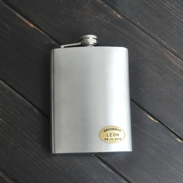 Us 9 99 50 Off Personalized Flask Custom Engraved Flask Groomsmen Gift Stainless Steel Pocket Flask Wedding Party Gift In Party Diy Decorations