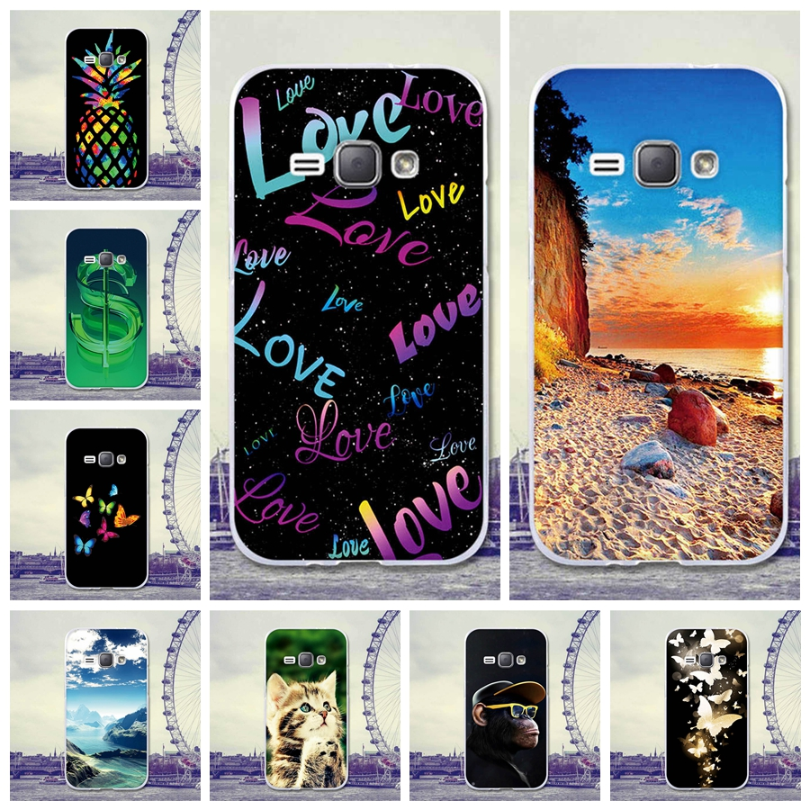 For Coque Samsung Galaxy J1 2016 J120F Case Cover 4.5inch Cartoon Rubber TPU Silicone Case For Samsung J120H J120M J120T Case