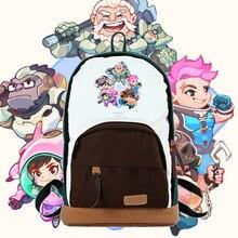Kawaii Japanese Korean style lovely OW heroes character Mercy DVA Zarya REINHARDT REAPER printing backpacks cute
