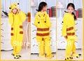 Мультфильм животных покемон пикачу Onesies для детей Onesie пижаме комбинезон капюшоном пижамы для детей