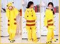 Animales de dibujos animados Pokemon Pikachu Onesies para niños Onesie pijamas sudaderas con capucha del mono ropa de dormir para los niños