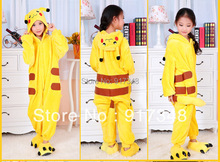 Cartoon Animal Pokemon Pikachu Onesies for Children Onesie Pajamas Jumpsuit font b Hoodies b font Sleepwear