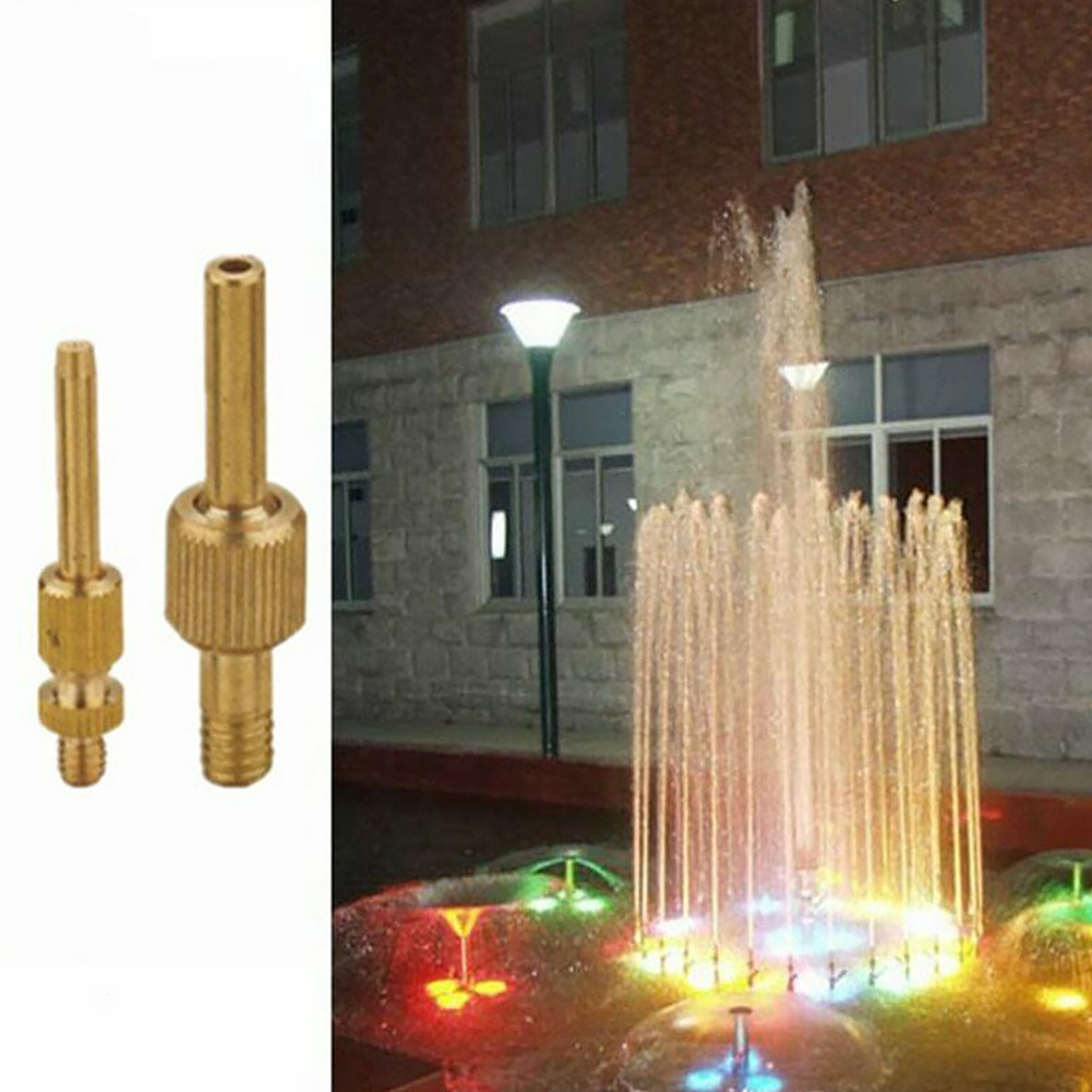 Small Home Courtyard Fountain Nozzle Irrigation Spray Brass Straight Water Durable Easy Install Garden Micro Pure Parts Jet