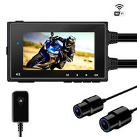 Motowolf M1 Dual Lens 1080P Dash Cam DVR Motorcycle Camera Driving Recorder Waterproof Support Wi Fi 256G TF cards