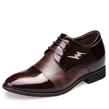 Q3333 New Fashion Winter Shoes Leather Business Suit Men's Shoes Paint Increased Point Wedding Shoes