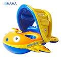 2016 La Seguridad Del Bebé Infant Swimming Flotador Inflable Sombrilla Ajustable Asiento Del Anillo de Natación Piscina Barco A212