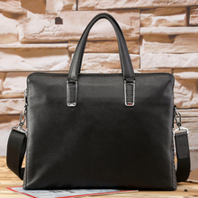 2017 New Fashion Genuine Leather Men Briefcases Famous Brand Shoulder Bag Male Messenger Bags Causal Handbag Laptop Briefcase