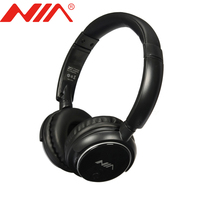 Original NIA Q1 Wireless Stereo Bluetooth Earphone Headsets Free Shipping Foldable With Mic Support TF Card