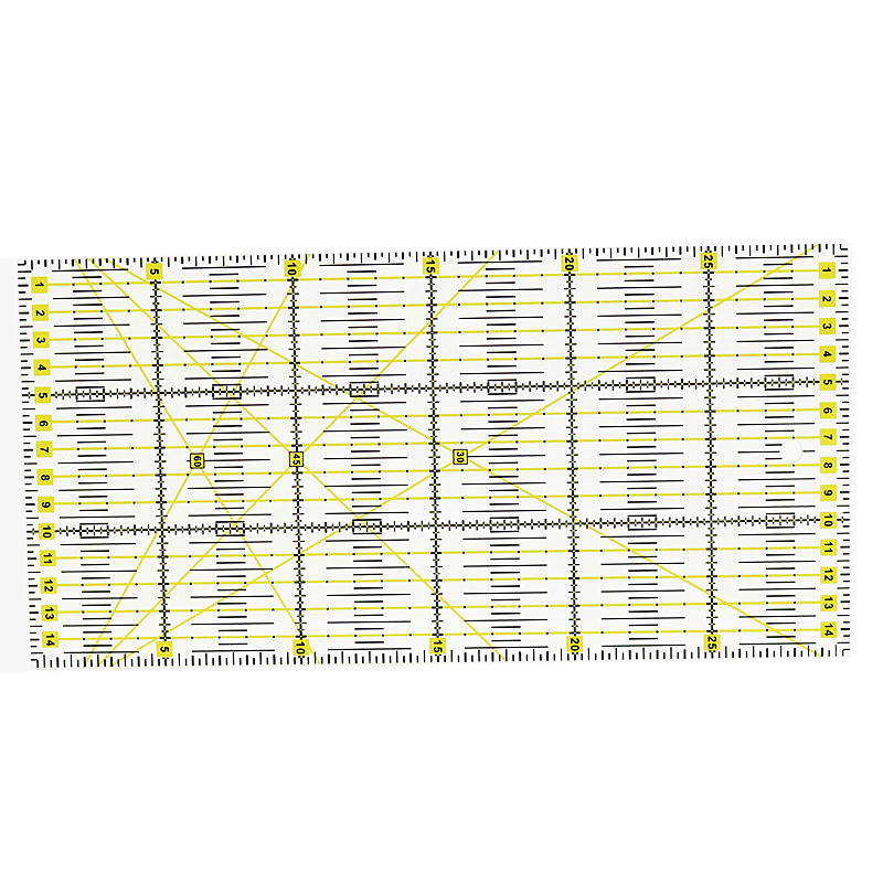 Patchwork Ruler 30cm * 15cm * 3mm Quilting Tools Approximate Blue Acrylic Material Patchwork ruler To Ensure Quality Ruler