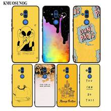 Black Silicon Phone Case yellow aesthetic for Huawei Honor Mate 7C 7A 8 8A 8X 9 10i 10 20 Nova 3 3i Pro Lite