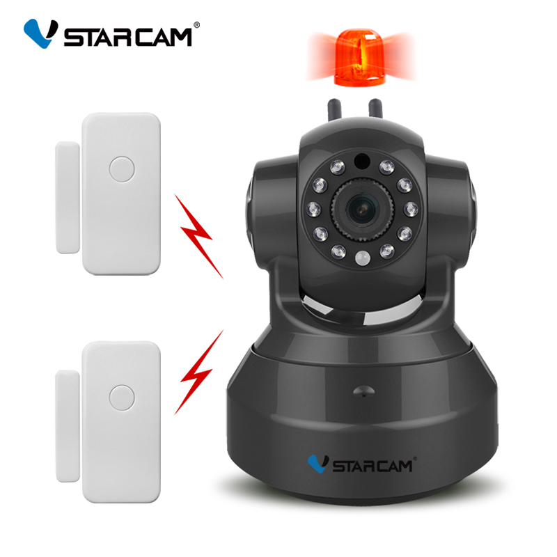 free shipping VStarcam C37-AR  Wireless HD Alarm IP Security Camera WiFi Two Way Audio Recording Infrared Add Door vstarcam c37 ar wireless hd alarm ip security camera wifi two way audio recording infrared add door pir sensor cctv alarm system
