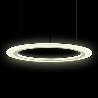 50cm Simple Style Acrylic Round Hanging Modern Led Pendant