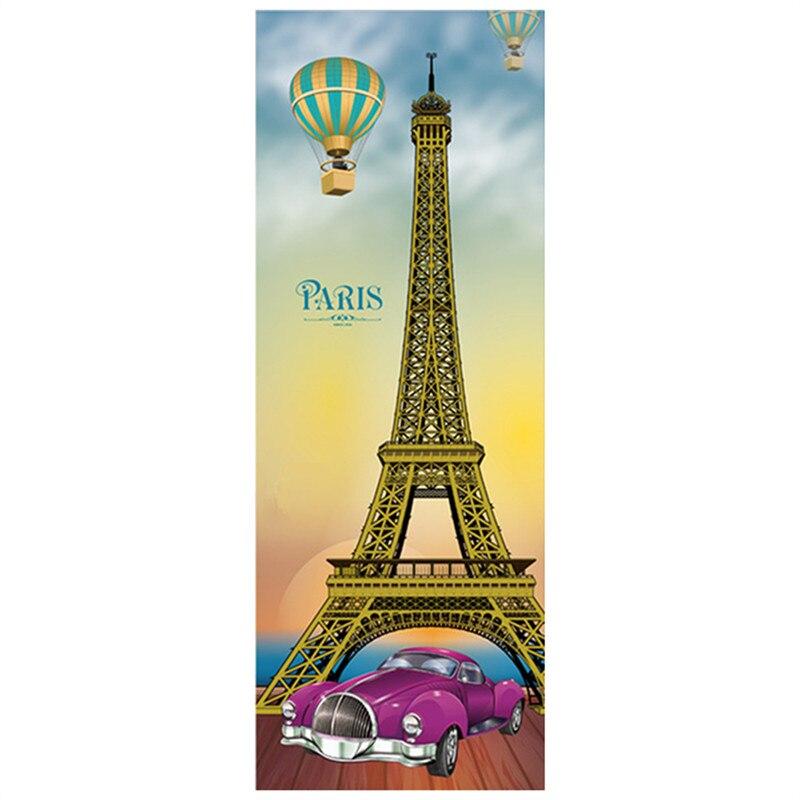 80*215cm 3d door murals Paris Eiffel Tower vinyl wall stickers home ...