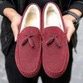 Новые Зимние Квартиры Квартир Женщин женская Обувь Мужчины Мокасины Теплые Зимние Ботинки Обувь Из Натуральной Кожи Шарм Sapato