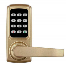 купить Zinc Alloy Smart Fingerprint Door Lock with Built in Alarm for Home and Office stainless steel plating дешево
