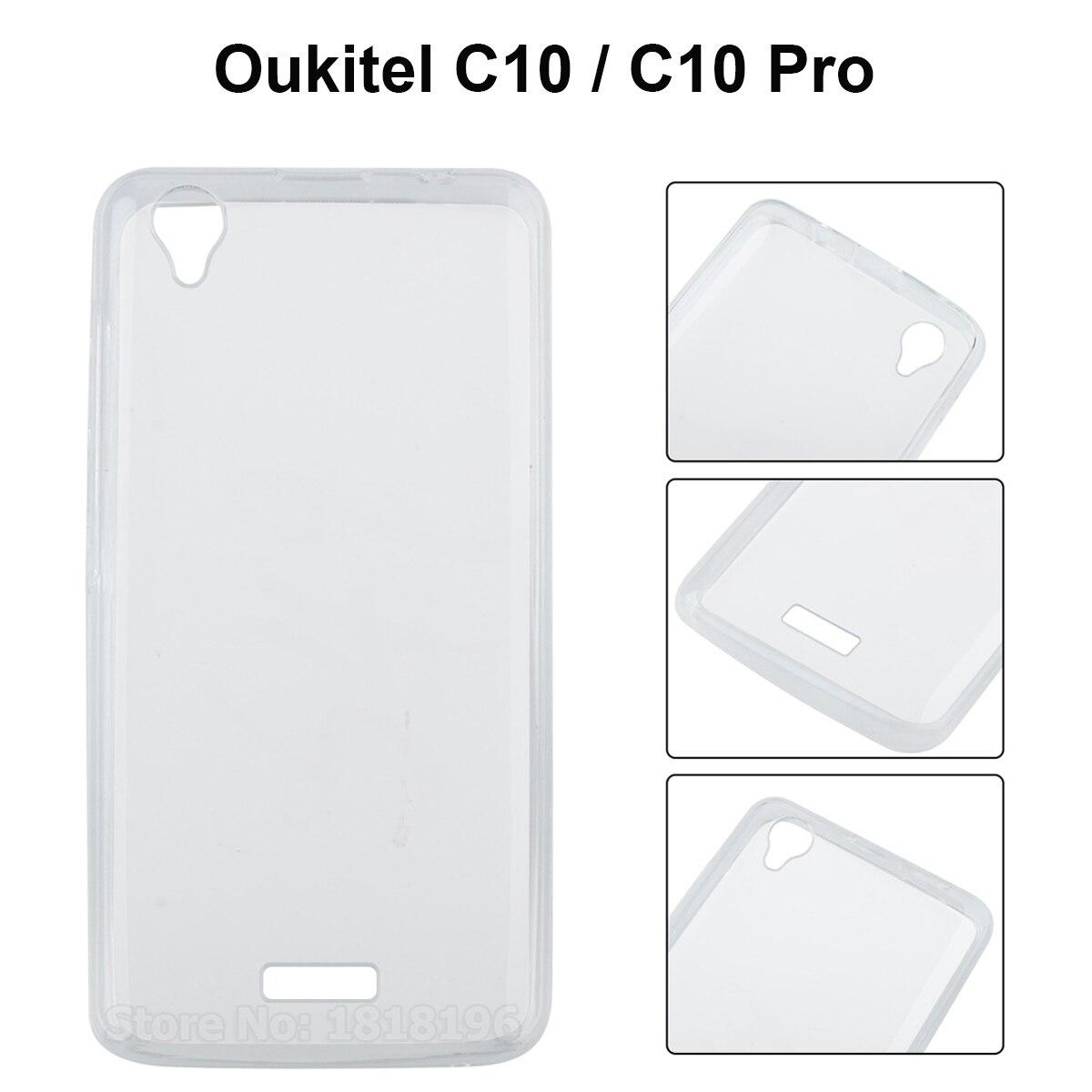 Купить Oukitel C10 5,5 чехол Полная защита противоударный ТПУ силиконовый прозрачный задняя крышка для Oukitel C10/C10 Pro Чехол для смартфонов Coque на Алиэкспресс