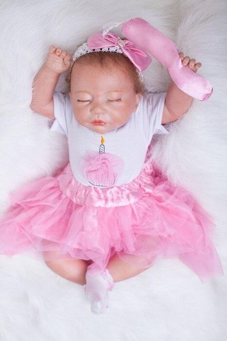 Otardpoupées belle poupée 50 cm silicone reborn poupée pour filles jouets 20 pouces réaliste vinyle bébé poupées jouet enfants nouvel an jouets cadeaux