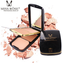 MISS ROSE 2 colors powder cake 1 color gel foundation fashion with air cushion repair capacity makeup