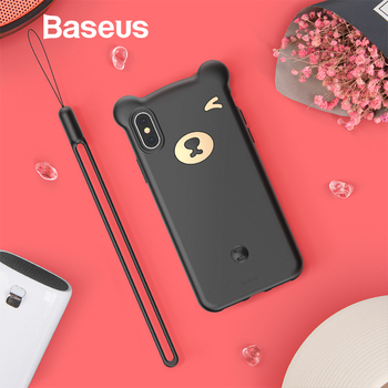 Baseus Lovely Cute Little Bear Case For iPhone Xs Xs Max XR 2018 Full Coverage Protective Soft Silicone Case For iPhone Xs Cover