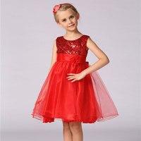 New Kid Girl Sequin Dress Kid Girl Party Dress Flower Girl Dress For Wedding L100DK