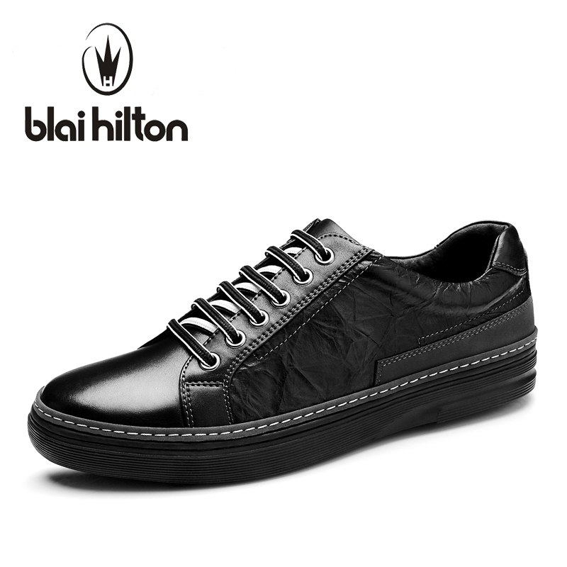 Blaibilton Brand 100% Genuine Leather Mens Shoes Male Footwear men casual shoes Luxury Flat Fashion Designer Breathable SMQ76 blaibilton brand winter warm velvet high top men casual shoes luxury genuine leather male footwear fashion designer mens sd3599