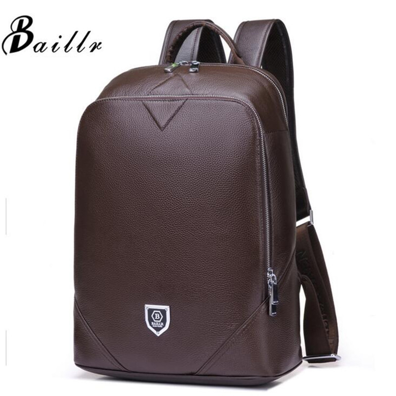 Men Bag Genuine Leather Men's Backpack Male Laptop Computer Bags Waterproof Travel Bag School Bags Men Of God Daypacks Backpack