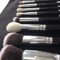 Макияж кисти охраны окружающей среды мешок 8 ШТ. макияж кисти шерсти костюм цилиндр козьей шерсти Восемь шерсть кисти для макияжа черный
