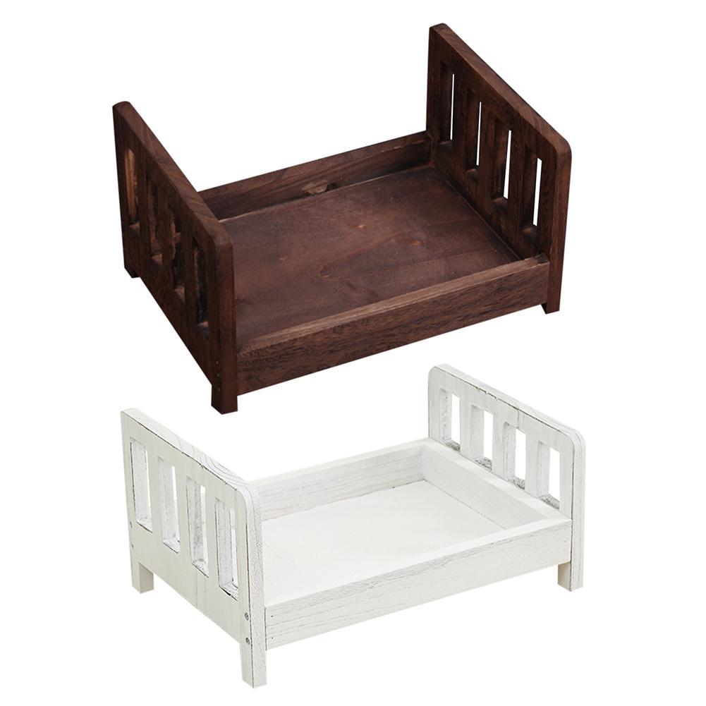 Nouveau-né photographie accessoires lit bébé Photo petit lit en bois nouveau-né accessoires lit dormir berceau accessoires pour Photo Shoot posant