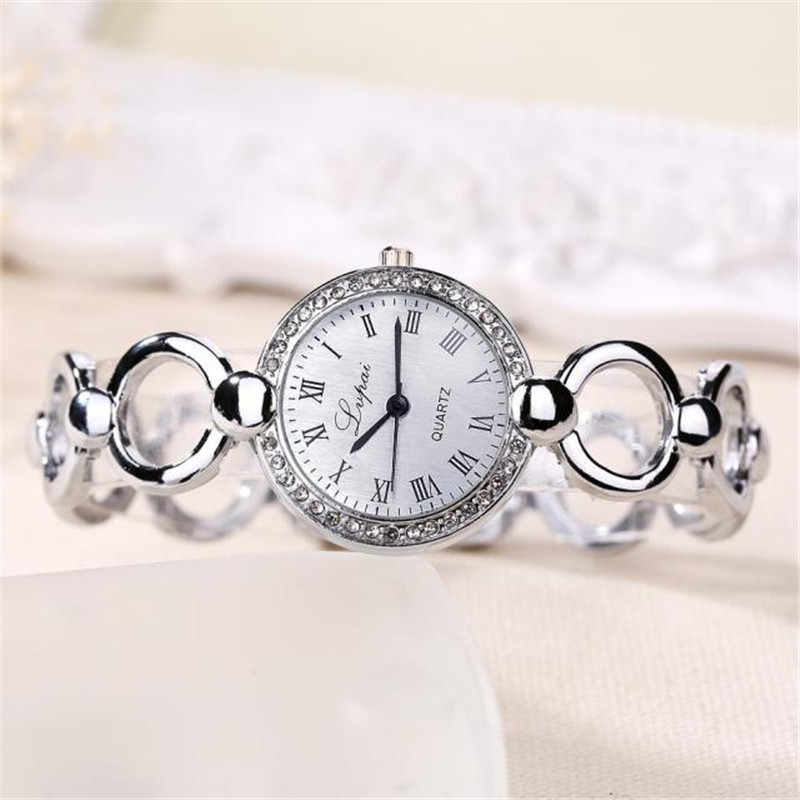 Gran oferta, relojes de lujo a la moda para Mujer, reloj de pulsera para Mujer, reloj de negocios de cuarzo con esfera pequeña, reloj femenino # B