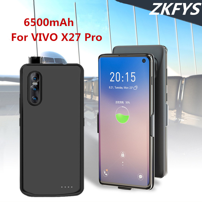 ZKFYS Battery Case For VIVO X27 Pro Battery Charger Case 6500mAh Portable High Quality Ultra Thin Power Bank Battery Cover in Battery Charger Cases from Cellphones Telecommunications