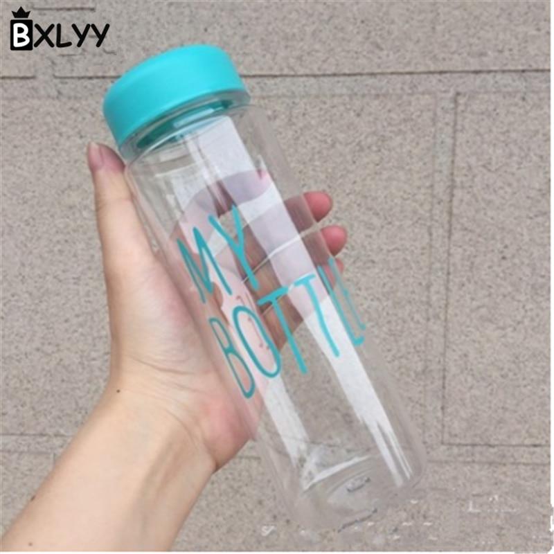 BXLYY Multi Colored Plastic Water Bottle 500ml Portable Leakproof Sports Kettle Decor Party Wedding Gift Travel water bottle.7z
