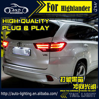 AKD Car Styling Tail Lamp For Toyota Highlander Tail Lights 2015 2016 LED Tail Light Signal